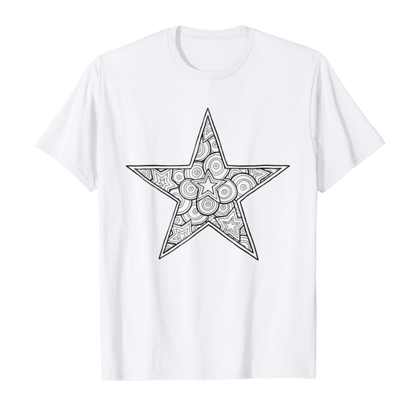 T-Shirt Colouring: Star (Mens Edition)