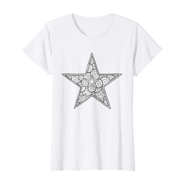 T-Shirt Colouring: Star (Womens Edition)