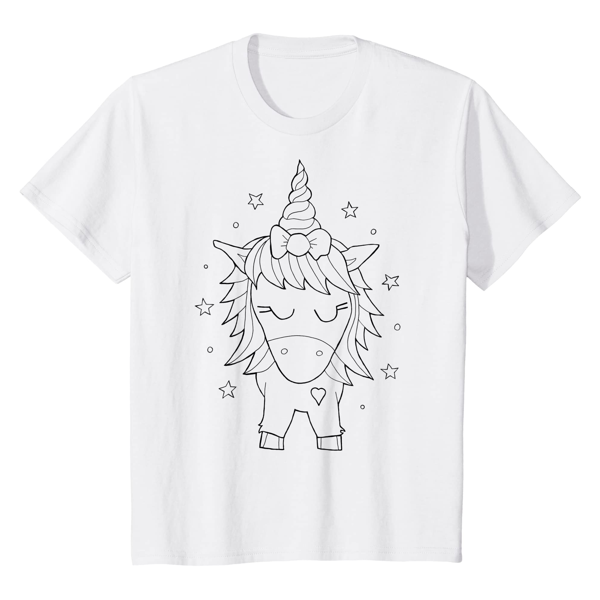 T-Shirt Colouring: Unicorn (Men, Women & Kids)
