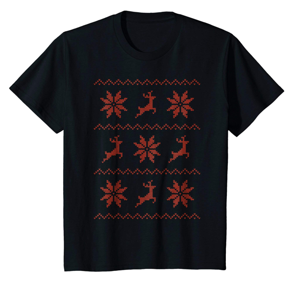 Tops & T-Shirts: Christmas Knitted Effect (Kids)