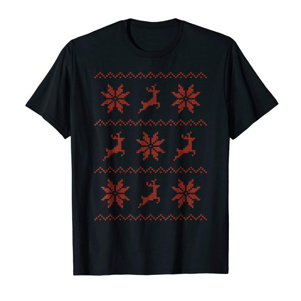 Tops & T-Shirts: Christmas Knitted Effect (Men, Women & Kids)