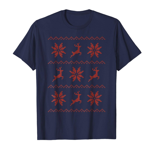 Tops & T-Shirts: Christmas Knitted Effect (Womens)